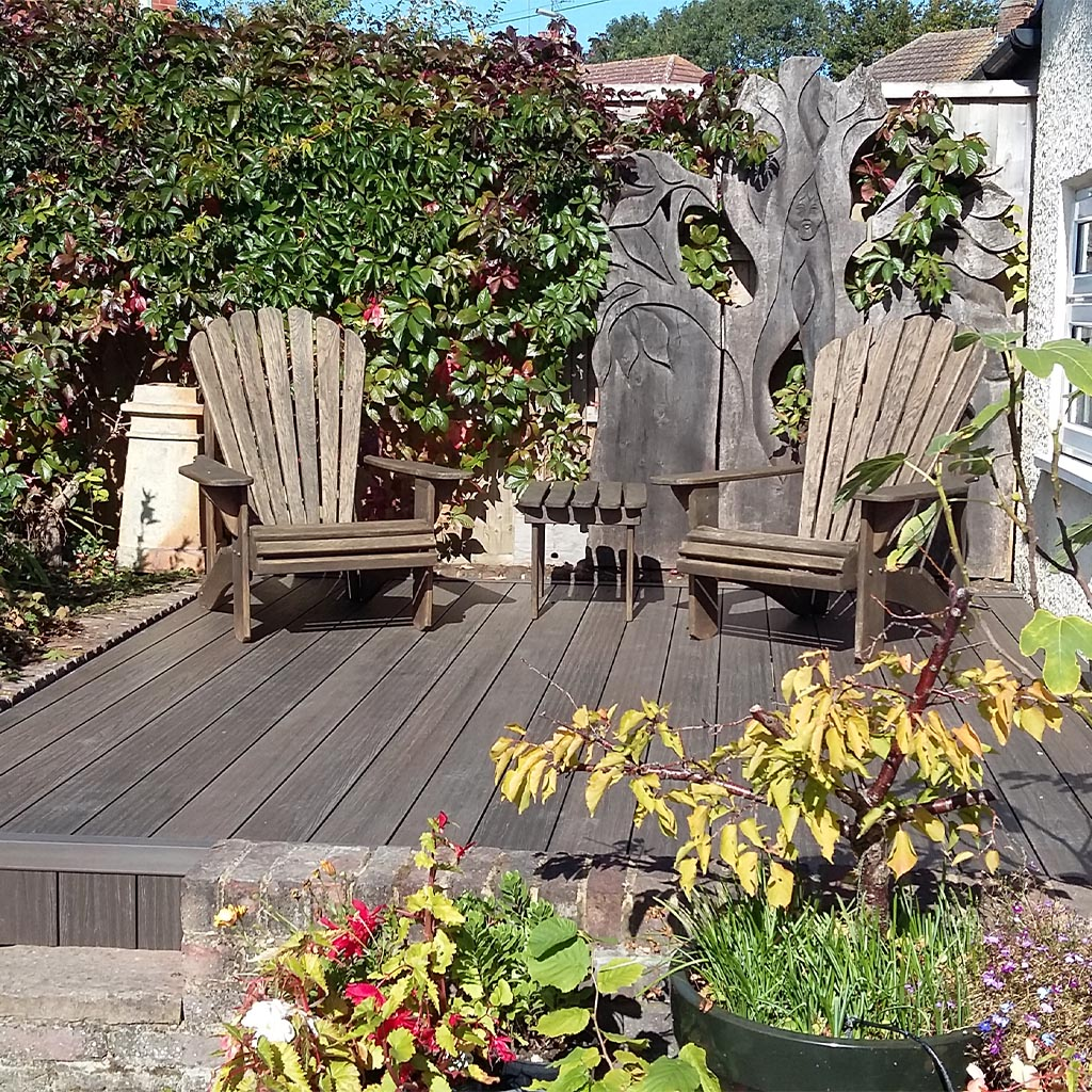 Composite decking is great for long-lasting gardens
