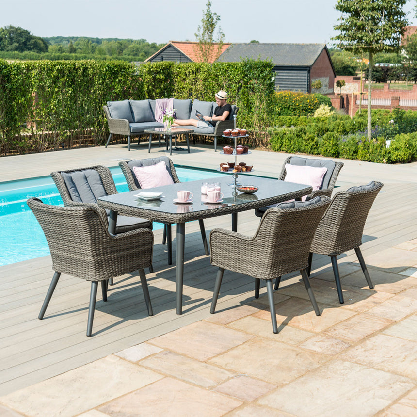 composite decking swimming pool rattan furniture