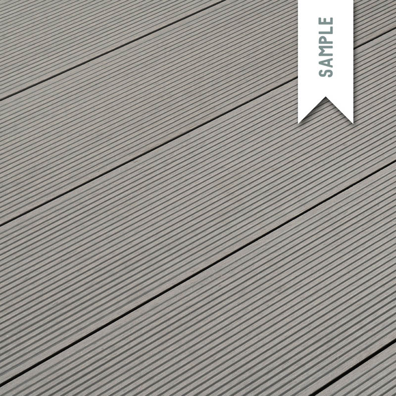 composite decking free sample classic light grey