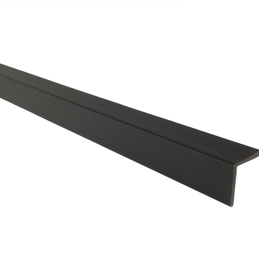composite decking supreme corner trim dark grey