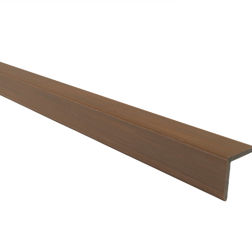 composite decking supreme corner trim teak