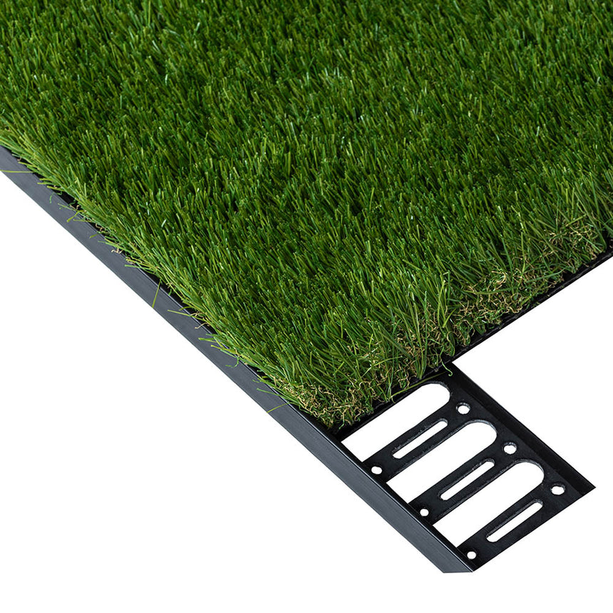 artificial grass plastic edging, black