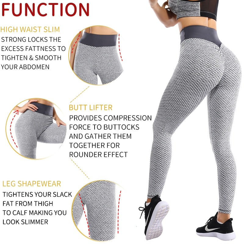 Fit2Gym™ Women's Seamless Butt Lifting Workout Leggings - Fit2Gym