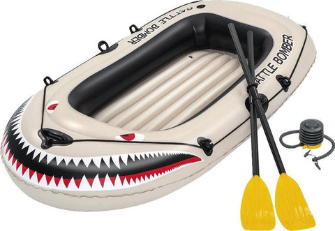 BESTWAY BOAT WITH PADDLES AND PUMP 1.96M