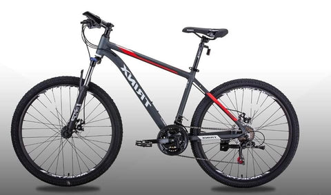 TRINX M126 PRO BICYCLE, 21 SPEEDS, 29 INCHES, GRAY & RED- NEW 2021