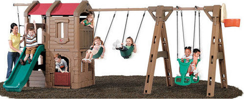 NATURALLY PLAYFUL ADVENTURE LODGE PLAY CENTER WITH GLIDER