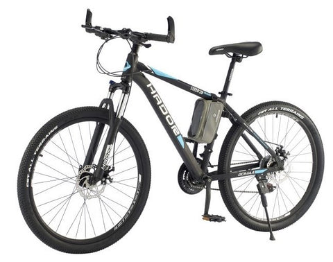 HADOR STEER 26 MOUNTAIN BICYCLE, 21 SPEEDS, BLACK & BLUE- NEW 2021
