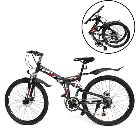 TRINX YS26,FOLDING BICYCLE, SIZE 26, BLACK AND RED - NEW 2021