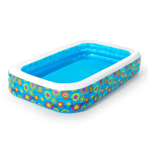 BESTWAY FLOWERS RECTANGULAR FAMILY POOL 305 X 183 X 56 CM