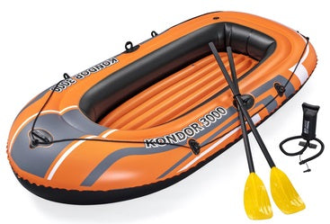 BESTWAY BOAT WITH PADDLES AND PUMP 2.42M