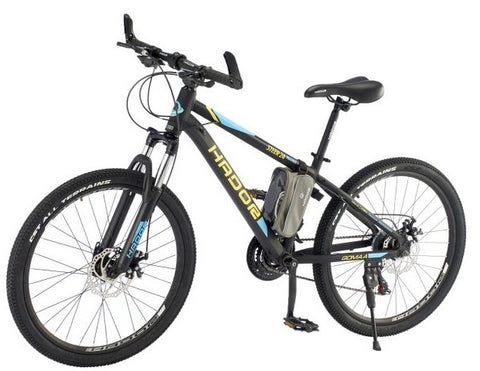 HADOR STEER 24 MOUNTAIN BICYCLE, 21 SPEEDS, BLACK & YELLOW