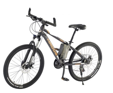 HADOR STEER 24 MOUNTAIN BICYCLE, 21 SPEEDS, BLACK & ORANGE