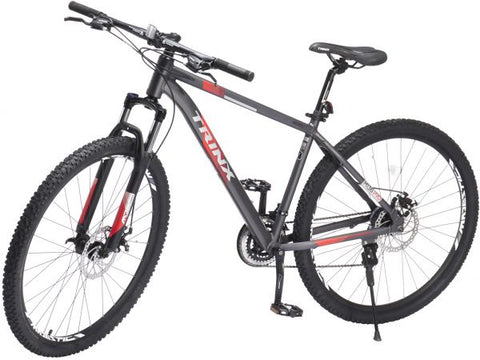TRINX M136 PRO BICYCLE WITH 21 SPEEDS, 29 INCHES, GRAY & RED- NEW 2021