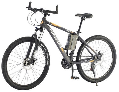HADOR STEER 26 MOUNTAIN BICYCLE, 21 SPEEDS, BLACK & ORANGE- NEW 2021