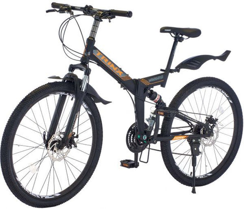 TRINX YS26,FOLDING BICYCLE, SIZE 26, BLACK AND ORANGE - NEW 2021