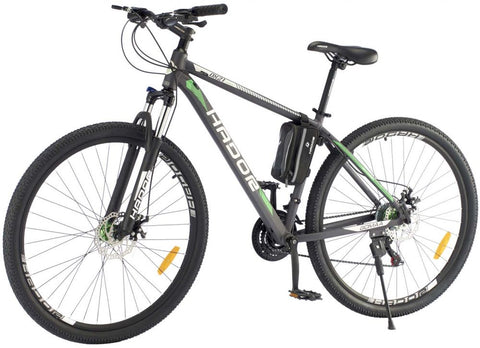 HADOR OX21 MOUNTAIN BICYCLE, 21 SPEEDS, BLACK & GREEN
