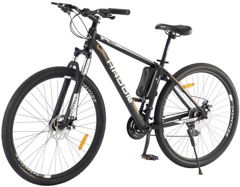HADOR OX21 MOUNTAIN BICYCLE, 21 SPEEDS, BLACK & BROWN