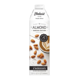 Elmhurst Barista Almond Milk - Unsweetened- 946 ML