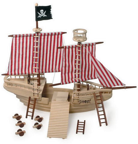 1920 Large Wooden Pirate Ship