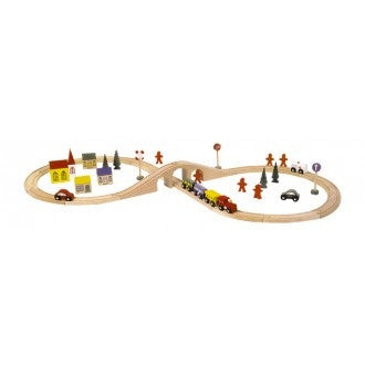 1090 Wooden Railway (46 pieces)