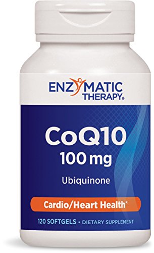 Enzymatic Therapy CoQ10 100 mg Ubiquinone, 120 Softgels