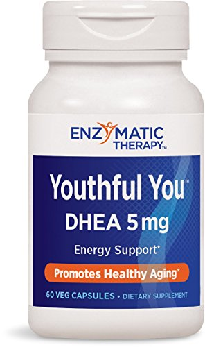 Enzymatic Therapy Youthful You DHEA 5mg Energy Support, 60 Capsules