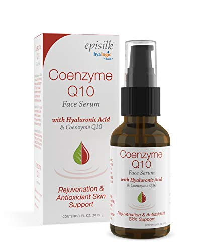 Hyalogic Episilk Coenzyme Q10 Serum w/Hyaluronic Acid for Collagen Support | Visible Firming Facial Serum For Dry Skin | Skin Rejuvenation - Antioxidant Serum (1 fl oz)