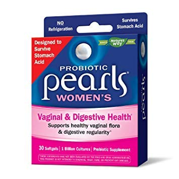 Nature's Way Probiotic Pearls Women's, Vaginal and Digestive Health, 30 Softgels. Pack of 3
