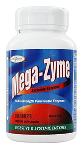 Enzymatic Therapy Mega-Zyme - 200 Tablets