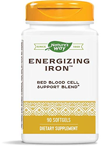 Nature's Way Energizing Iron Dual Iron Formula, 90 Count (Packaging May Vary)