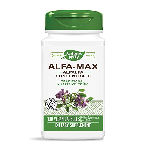 Nature's Way Premium Herbal Alfa-Max, 840 mg concentrate per serving, 100 Capsules