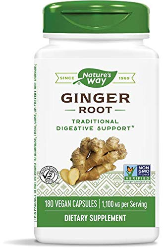 Nature's Way Premium Formal Ginger Root 550 mg, 180 Vcaps, Pack of 2