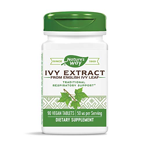 Nature's Way Ivy Extract from English Ivy Leaf 50 mg Potency, 90 Count