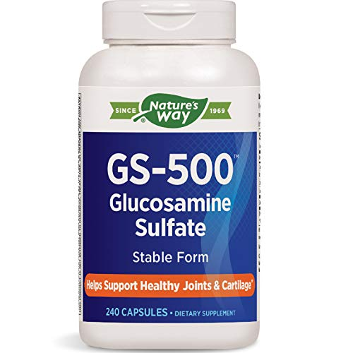 Nature's Way GS-500 Glucosamine Sulfate, Stable Form, Helps Support Healthy Joints, 240 Capsules