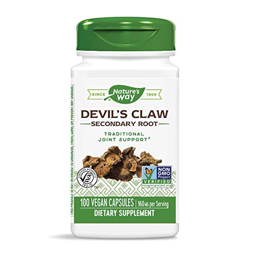 Nature's Way Devil's Claw Secondary Root 480 mg, 100 Vcaps (Packaging May Vary)