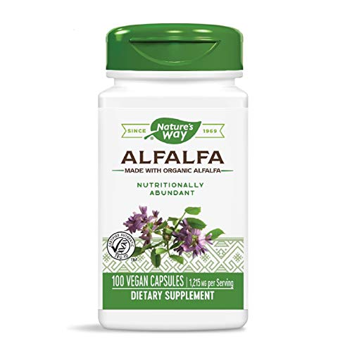 Nature's Way Organic Alfalfa Young Harvest, Premium Formula, 405 mg, 100 Vegan Capsules