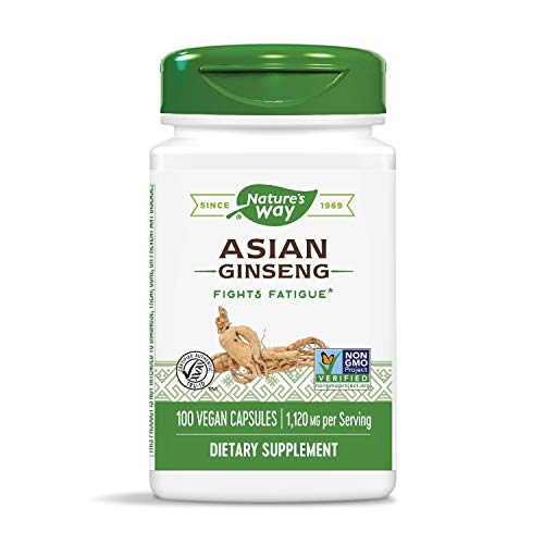 Nature's Way Premium Herbal Asian Ginseng, 1,120 mg per serving, 100 Capsules