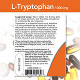 NOW Foods L-Tryptophan 1,000 mg, Double Strength, Encourages Positive Mood*, Supports Relaxation*, 60 Tablets