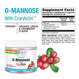 Solaray D-Mannose with CranActin Cranberry AF Extract Powder 226 g | Healthy Urinary Tract Support | 30 Servings | 8 oz