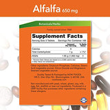 NOW Foods Alfalfa 650 mg source of Vitamin K, Green Superfoods, 500 Tablets