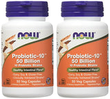 NOW Foods Probiotic10 50 Billion - 50 VegCap (Pack of 2)