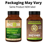 Sunwarrior Enzorb - Plant-Based Vegan Digestive Enzymes with Probiotics - Essential Supplements to Support Optimal Health - for Men & Women