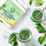 Sunwarrior Plant-Based Beauty Greens Collagen Powder, Organic and Vegan with Hyaluronic Acid, and Biotin (Pina Colada)