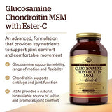Solgar Extra Strength Glucosamine Chondroitin MSM w/ Ester-C, 180 Tablets - Promotes Healthy Joints, Supports Comfortable Movement & Collagen Formation - Non-GMO, Gluten Free, Dairy Free - 60 Servings