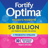 Fortify Optima Women's Probiotic, 50 Billion, 30 Count (Packaging May Vary)