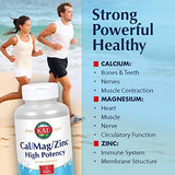 KAL Cal/Mag/Zinc | 1000mg Calcium, 400mg Magnesium & 15mg Zinc | Bone, Muscle, Heart & Immune Support | 250ct, 83 Serv.