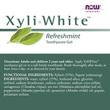 NOW Solutions, Xyliwhite™ Toothpaste Gel, Refreshmint, Cleanses and Whitens, Fresh Taste, 6.4-Ounce