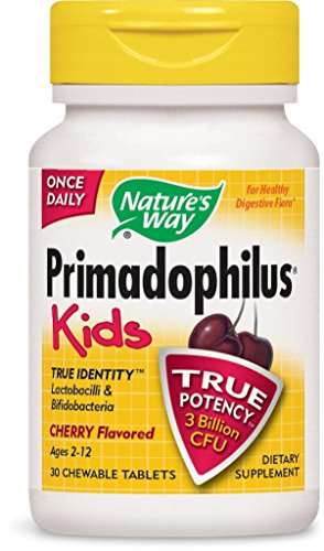 Nature's Way Primadophilus for Kids, Cherry, 30 Count (Pack of 2)