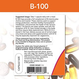 NOW Foods Vitamin B-100, Energy Production*, Nervous System Health*, 100 Veg Capsules