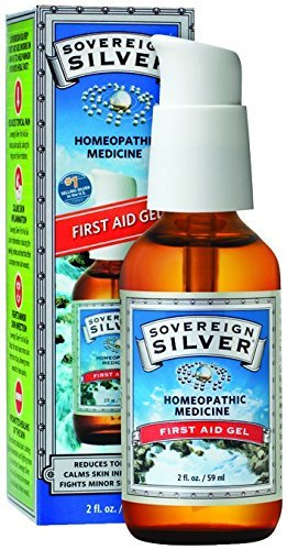 Sovereign Silver First Aid Gel - Homeopathic Medicine, 2oz (59mL) - Be Prepared for Life's Little Mishaps (Pack of 2)